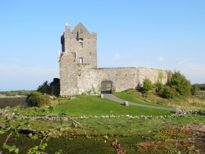 This is Dunguaire Castle, where Medieval feasts are performed.